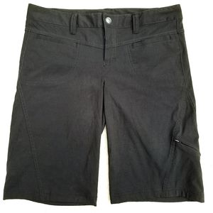 Athleta Black Dipper Nylon Bermuda Shorts 8